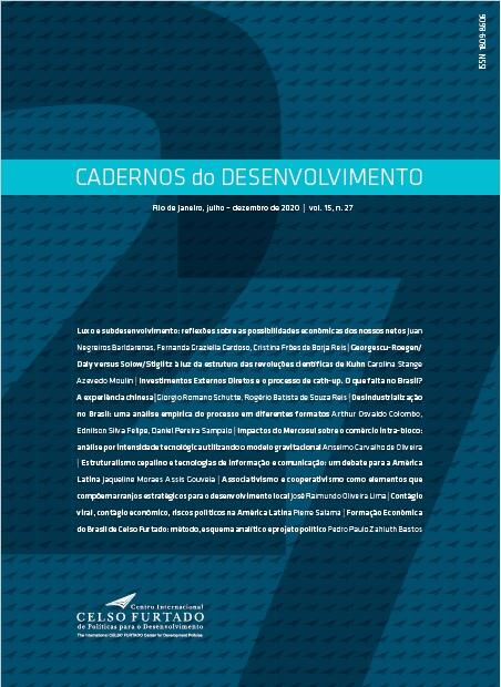 [CAPA] Cadernos do Desenvolvimento 27